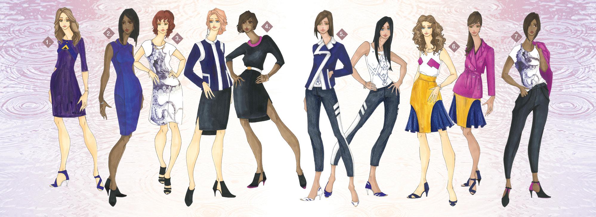 Contemporary Sportswear Illustration Line Up