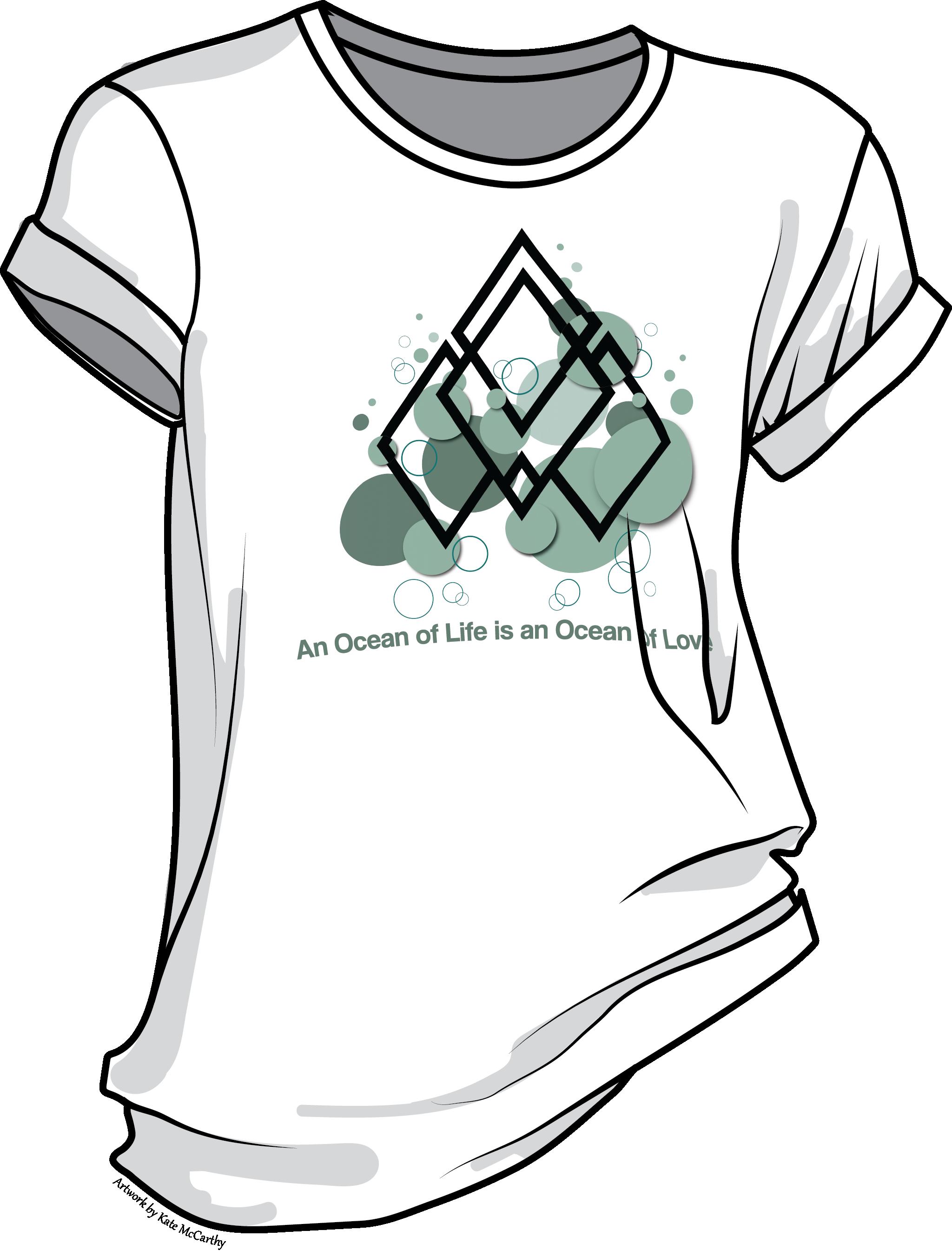 An Ocean of Love Bubbles Graphic T-shirt