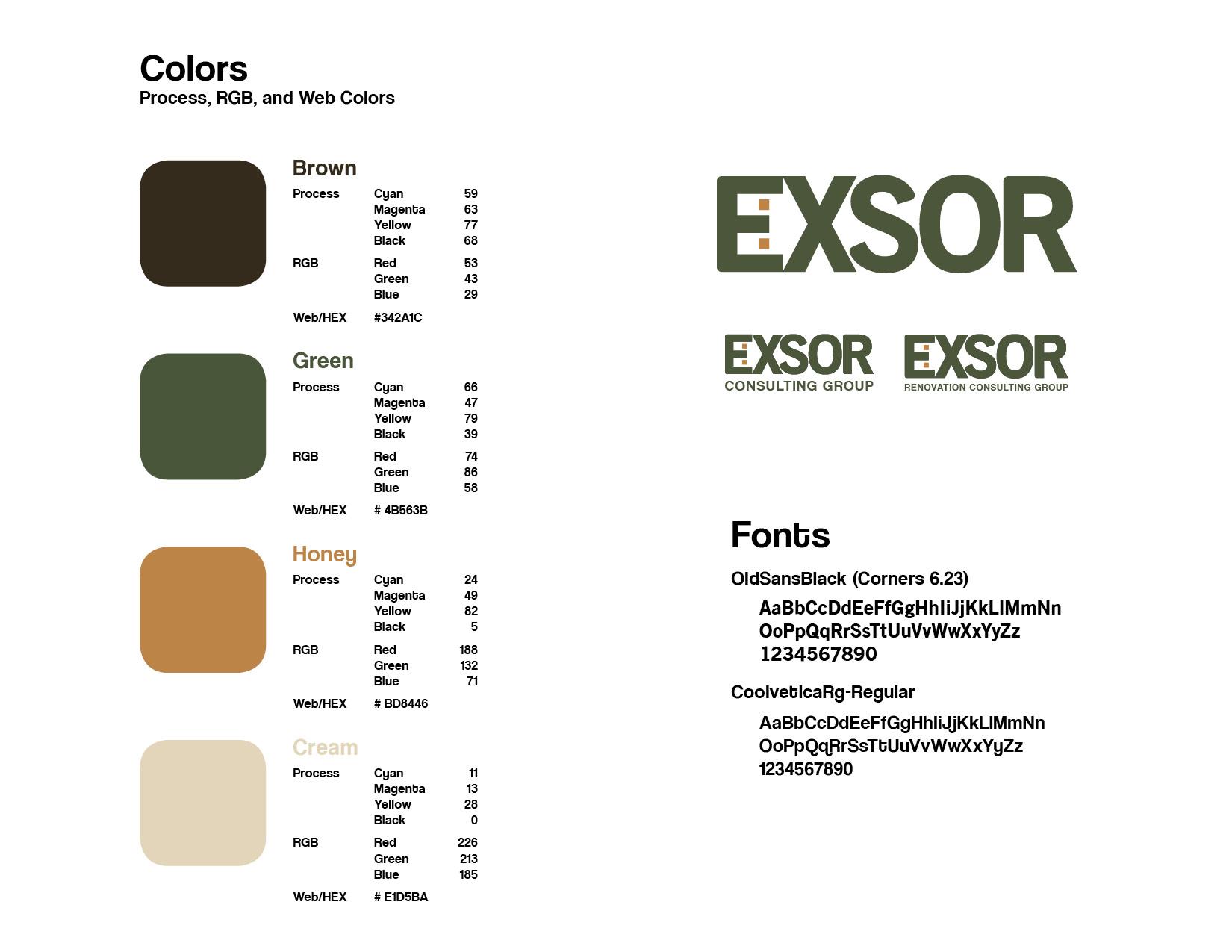 Exsor Brand Identity