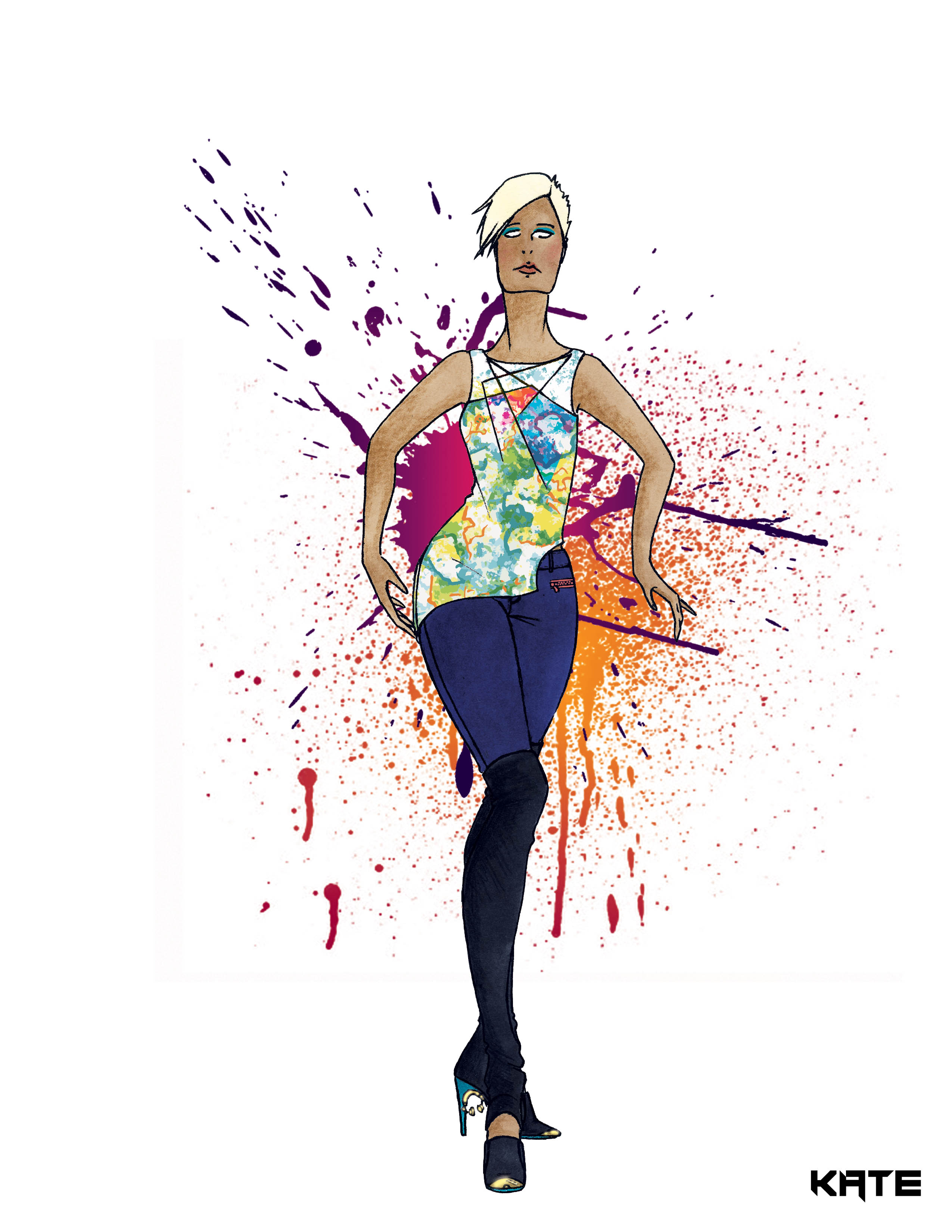 Fashion Illustration: Dubstep Collection Look 6