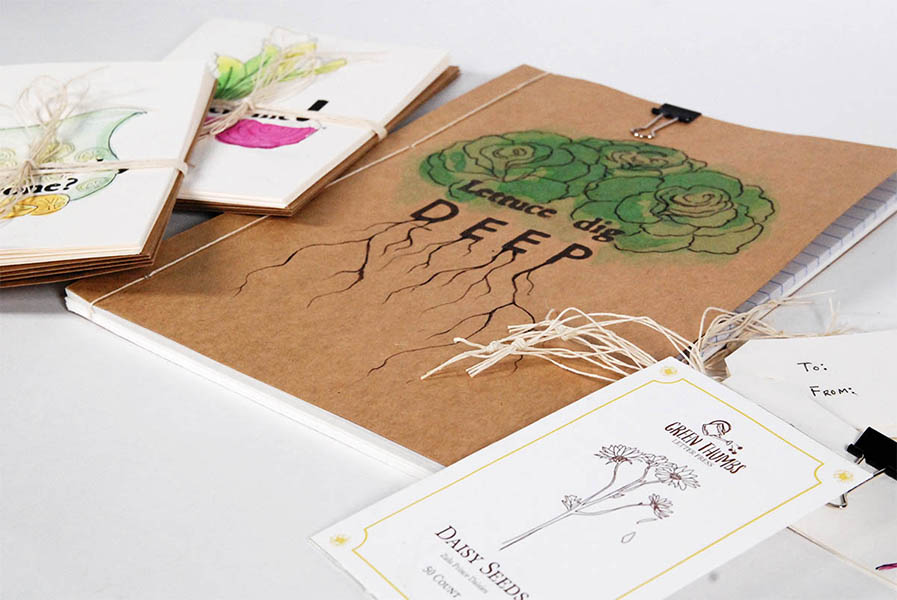 Green Thumbs Stationery Set