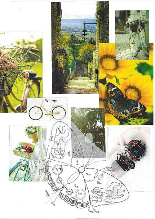 Bikes in the Countryside Process on Kathryn McCarthy's Online Portfolio